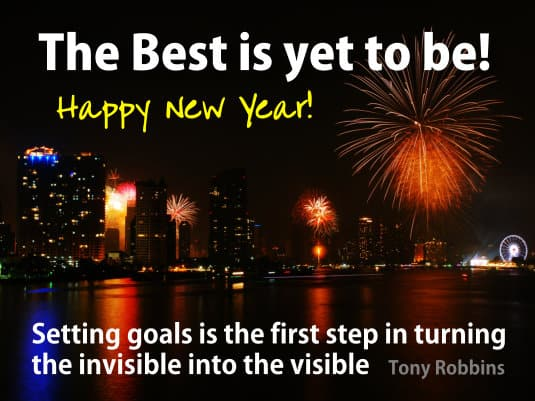 Setting goals is the first step in turning the invisible into the visible - Tony Robbins