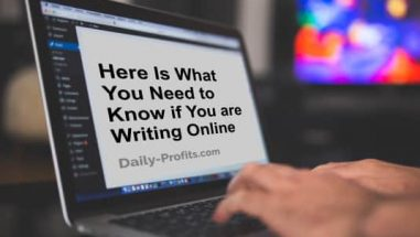 Here Is What You Need to Know if You are Writing Online