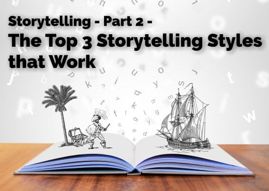 Storytelling Voice -2- The Top 3 Story-Telling Styles that Work
